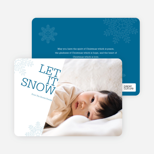 Let It Snow Let It Snow Let It Snow - Cadet Blue