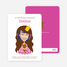 Little Princess Photo Card Birthday Invitations - Pink Princess