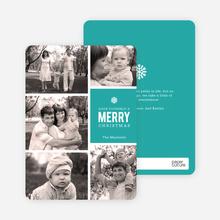 Merry Photos Holiday Cards - Blue