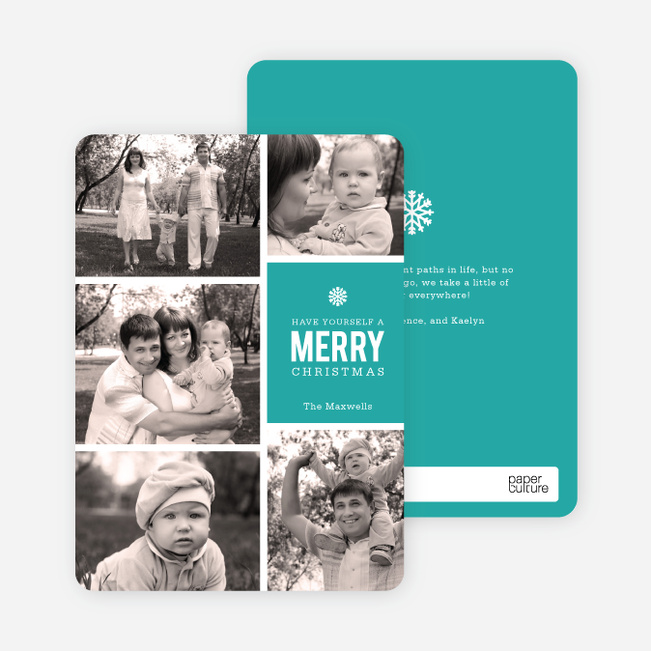 Merry Christmas Cards - Blue