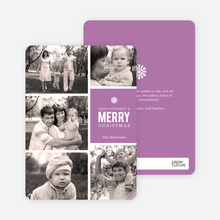 Merry Photos Holiday Cards - Purple