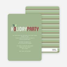 Mistletoe Holiday Party Invitations - Green