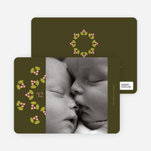 Mistletoe Holiday Photo Cards - Lemongrass