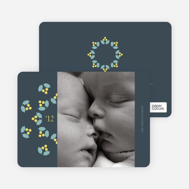 Mistletoe Holiday Photo Cards - Dusty Blue