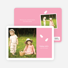 Modern Easter Photo Card: Chirp Chirp - Easter Pink