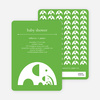 Modern Elephant Family Baby Announcement - Paper Culture Green