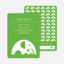 Elephant Family Baby Announcement - Paper Culture Green