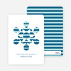 Modern Snowflake Holiday Greeting Cards - Cobalt