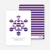 Modern Snowflake Holiday Greeting Cards - Royal Purple