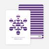 Modern Snowflake Holiday Greeting Cards - Royal Purple