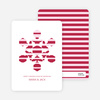 Modern Snowflake Holiday Greeting Cards - Pomegranate
