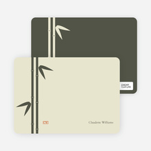 Bamboo Zen Bridal Shower Note Cards - Khaki
