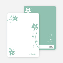 Floral Bridal Shower Note Cards - Sage