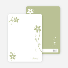 Floral Bridal Shower Note Cards - Taupe