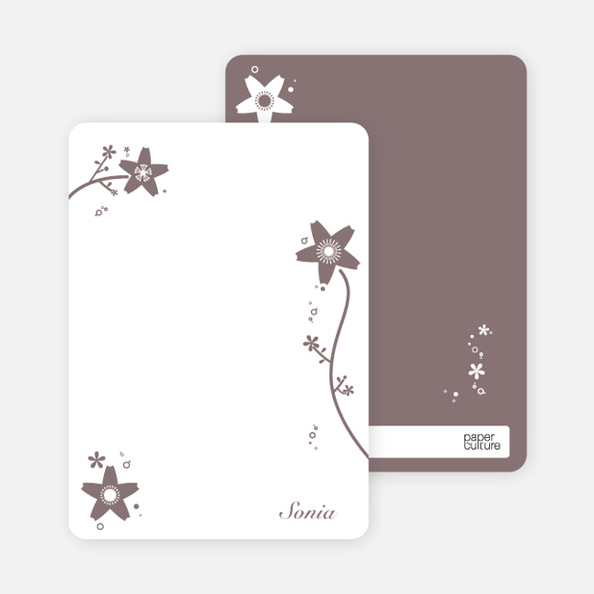 Note Cards: 'Floral Bridal Shower' cards. - Cotton Candy Pink