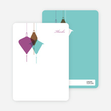 Lantern Lights Bridal Shower Note Cards - Magenta