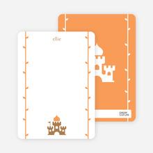 Princess Notecard - Tang Orange