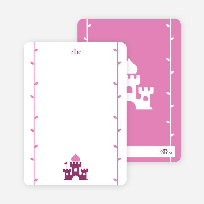 Note Cards: 'Princess Birthday Invitation' cards. - Grape Purple