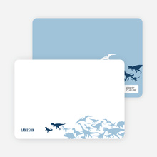 Dinosaur Birthday: Personal Stationery - Navy Blue