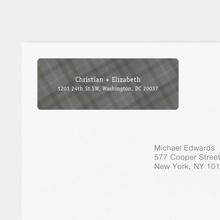 Plaid Address Labels - Gray