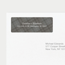 Plaid Address Labels - Gray