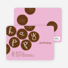 Premium Cupcakes Galore Birthday Invitations - Bubble Gum