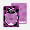 Purple Ladybug Modern Birthday Invitation - Grape