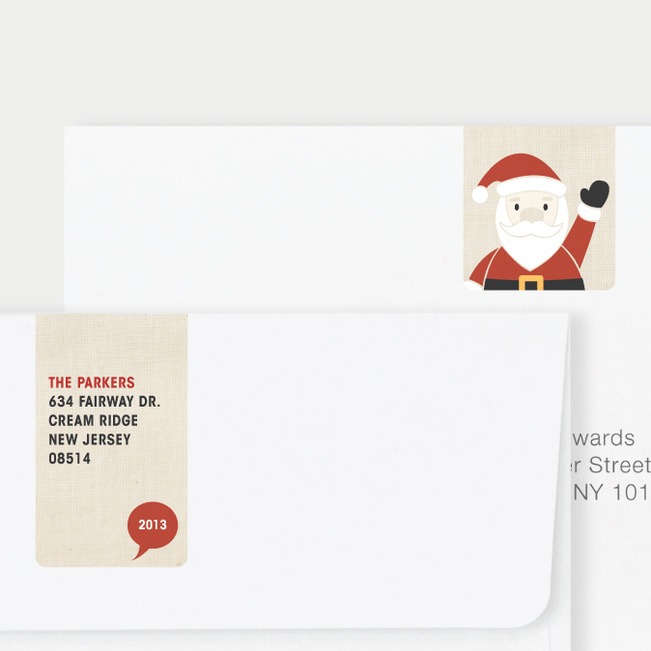 Santa Yo Matching Address Labels - Red