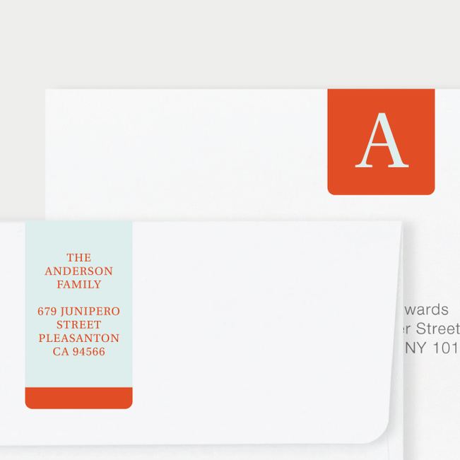 Serif Photo Wrap Custom Address Labels - Orange