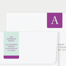 Serif Photo Wrap Custom Address Labels - Purple