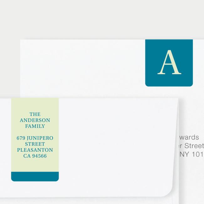 Serif Photo Wrap Custom Address Labels - Blue