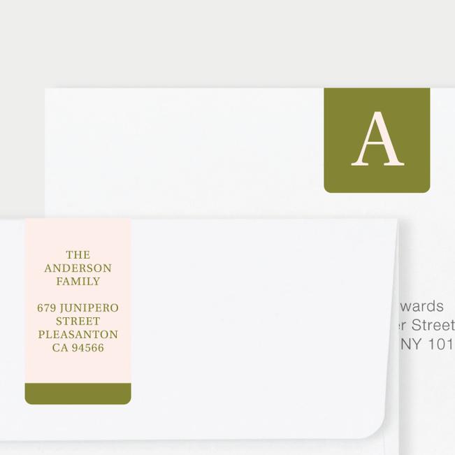 Serif Photo Wrap Custom Address Labels - Green