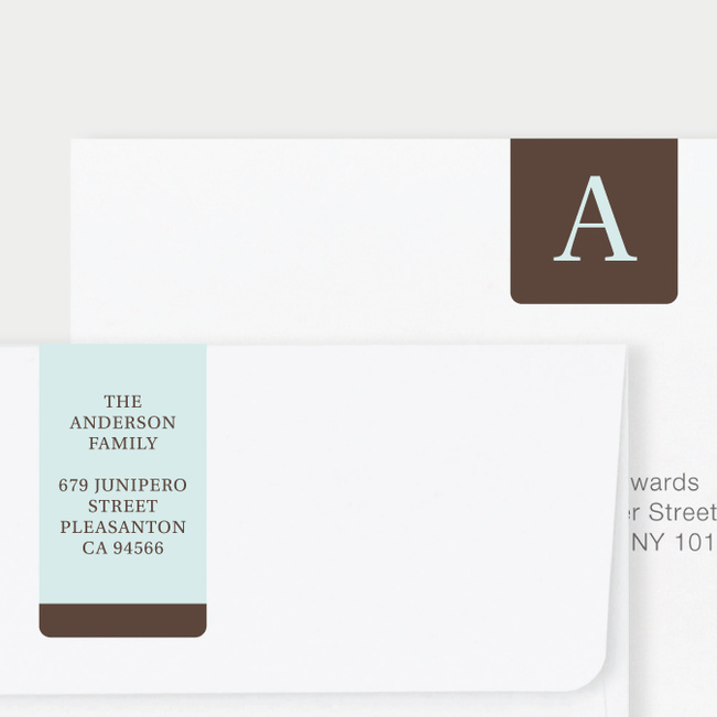 Serif Photo Wrap Custom Address Labels - Brown