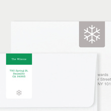 Snowflake Square - Green