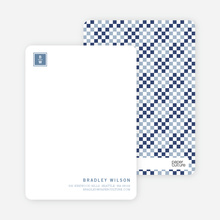Square Block Initials - Navy Blue