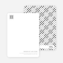 Square Block Initials - Silver Smoke