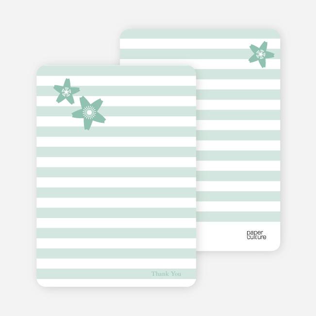Stationery: 'Floral Bridal Shower' cards. - Sage