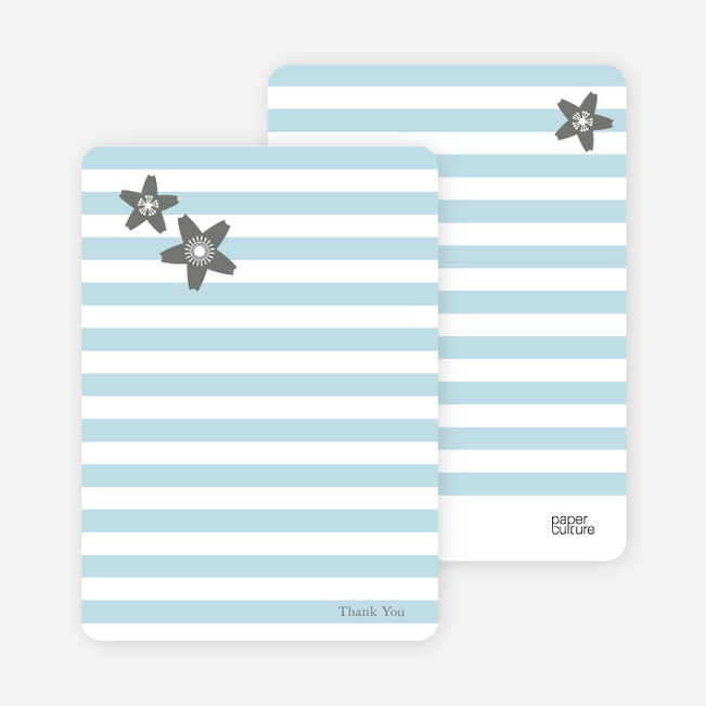 Stationery: 'Floral Bridal Shower' cards. - Baby Blue