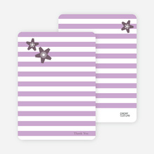 Floral Bridal Shower Note Cards - Lavender