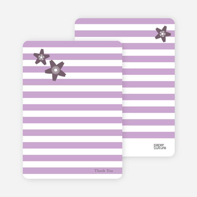 Stationery: 'Floral Bridal Shower' cards. - Lavender