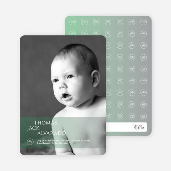 Photo Birth Announcements: Studio Series - Pale Green