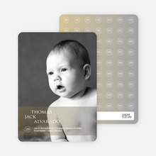 Studio Series Photo Birth Announcements - Light Brown