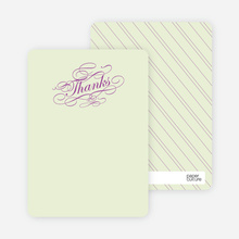Elegant, Yet Modern: Thank You Cards - Magenta