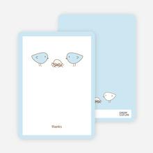 Nesting Birds: Thank You Cards - Powder Blue
