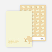 Ellie the Elephant: Thank You Cards - Golden Yellow