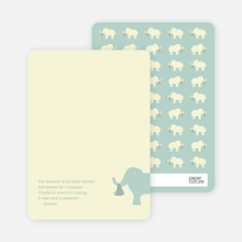 Ellie the Elephant: Thank You Cards - Sage