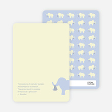 Ellie the Elephant: Thank You Cards - Dusty Blue