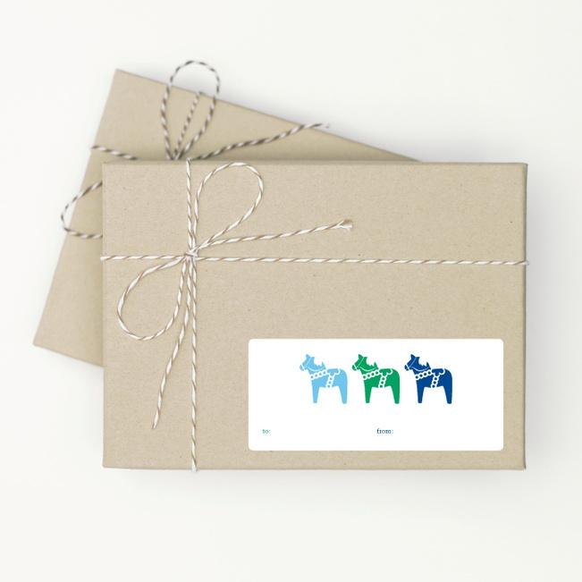 Three Horses - Blue