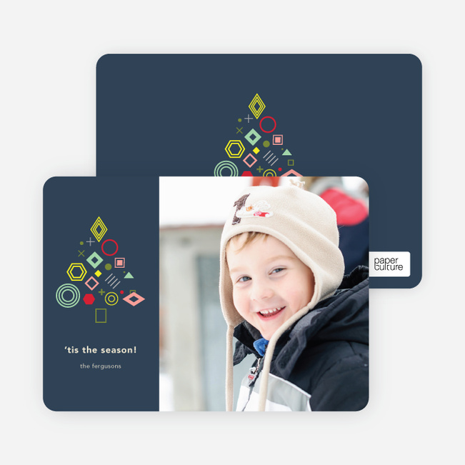 Tree Gems Holiday Cards - Blue