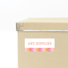Triangle Storage Labels - Pink